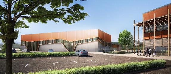 Gymnase Beaumont les Valence Chabal Architectes, Benjamin Ballay Architecte, Perspective Olivier Sidler